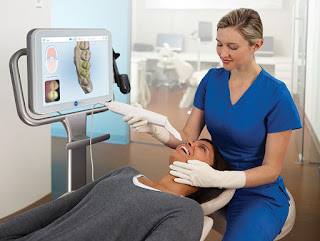 Milton Keynes dentists straight teeth with invisalign , Itero scanner means no yukky impressions