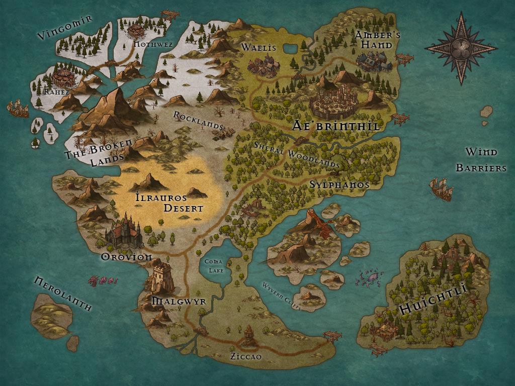 Inkarnate World Map.Pretzel Lectern Inkarnate Argaenothruzil Map