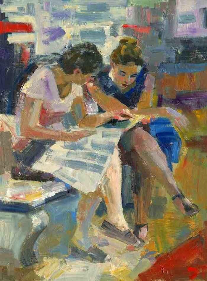 Женщина с книгой. Darren Thompson
