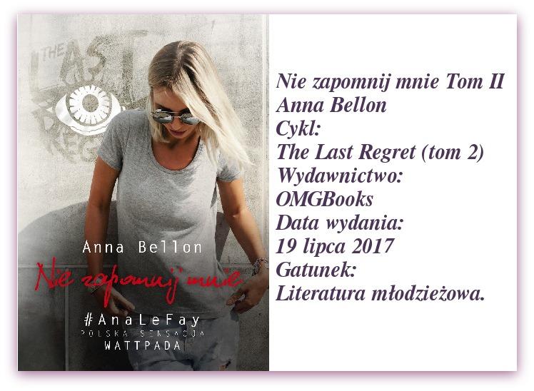 """""""Nie zapomnij mnie"""" Anna Bellon."""