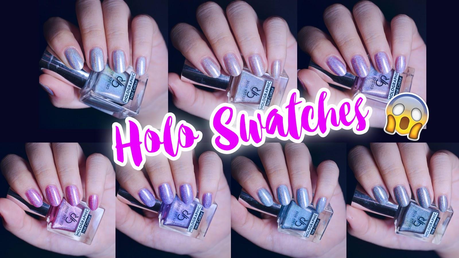 MissCandyUnicorns Holo Nails Swatches