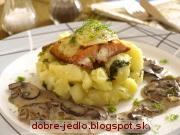 Losos s feniklom a šampiňónmi - recept