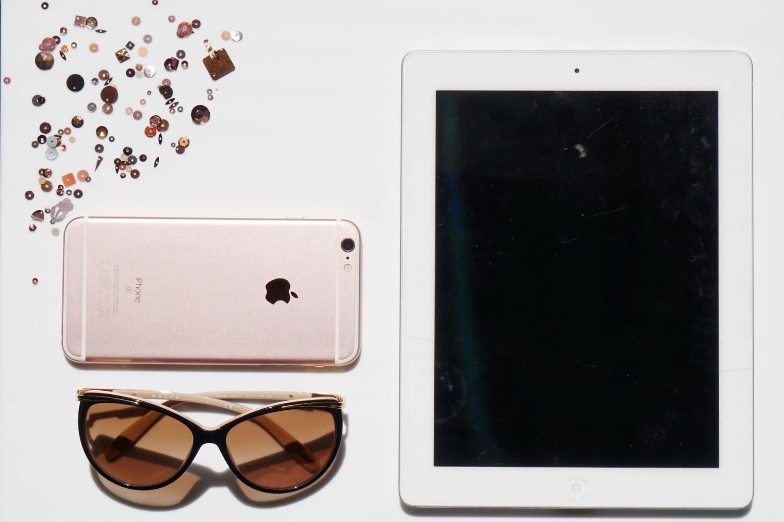 iPhone and iPad flatlay