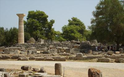 Αρχαία Ολυμπία: Αναστηλώθηκε σπάνιος κίονας της εποχής των Πτολεμαίων