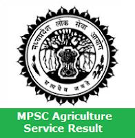MPSC Agriculture Service Result