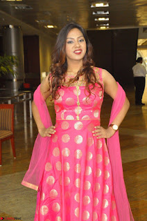 Sindhu Shivarama in Pink Ethnic Anarkali Dress 26.JPG