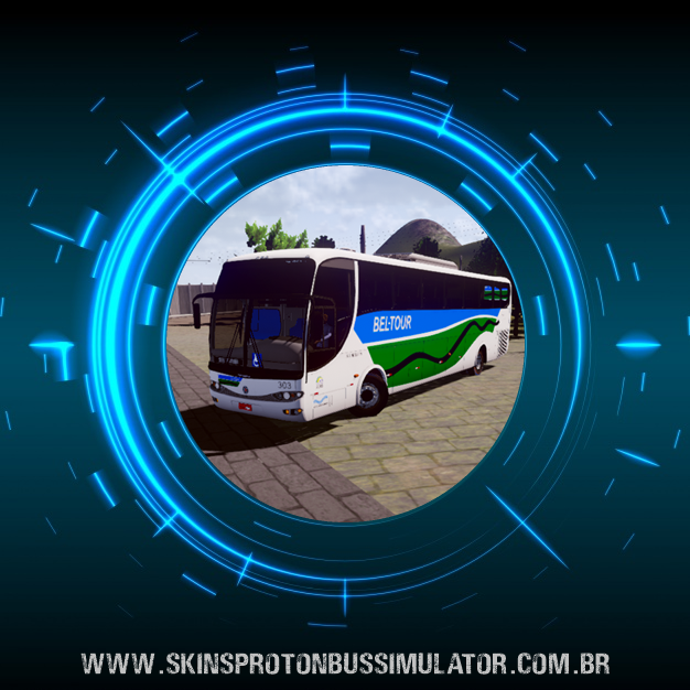 Skin Proton Bus Simulator - G6 1200 MB O-500RS 4X2 Bel-Tour