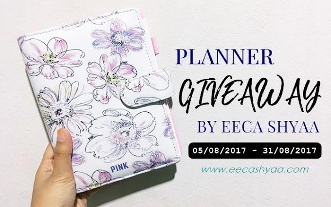 Planner Giveaway by Eeca Shyaa