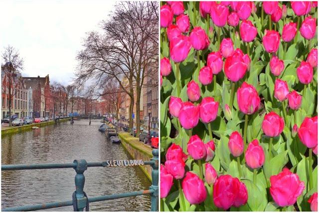 Canal en Amsterdam – Tulipanes en Keukenhof