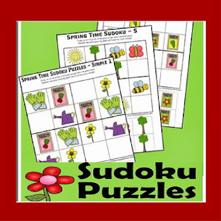 spring suduko problem solving puzzles for kids