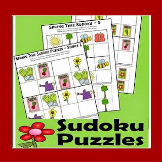 spring suduko problem solving puzzles for kids