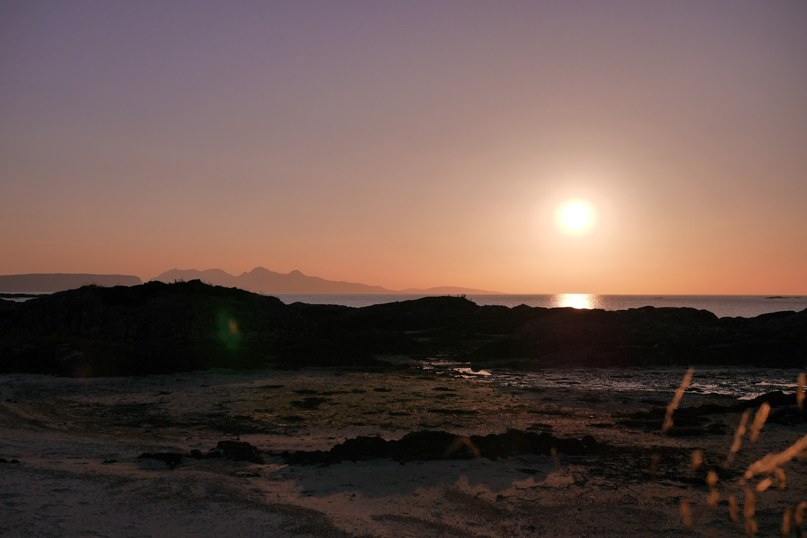Sunset in Scotland Arisaig, www.CalMCTravels.com, The best campsites in Scotland