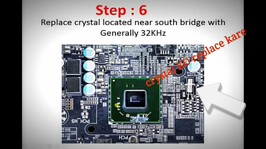 computer on repair crystal