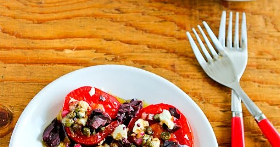 Kalyn's Kitchen®: Sliced Tomato, Olive and Goat Cheese Salad with ...