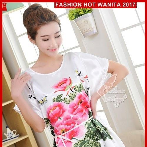 FWS089 Gaun Tidur Wanita Sleepwear Import Putih Terusan