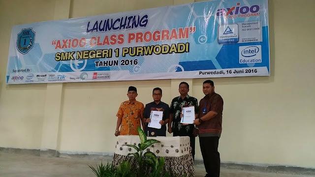 Lounching Kelas Axio- Axioo Class Program SMKN 1 Purwodadi