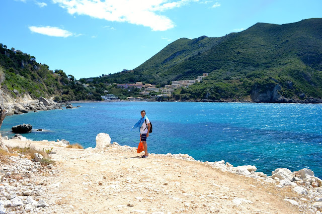 playa Ermones, Corfu, Grecia