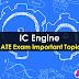 IC Engine Important GATE Topics