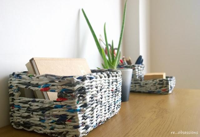 organizer, papierowa wiklina, recykling, koszyk, papier, wicker paper, paper, recycle, basket