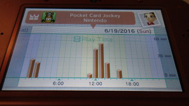 Nintendo 3DS Activity Log Pocket Card Jockey Sunday early morning late night