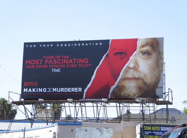 Making a Murderer 2016 Emmy consideration billboard