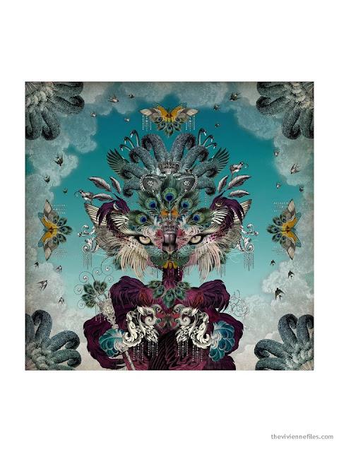 Madame de la Soir silk scarf by Santorus