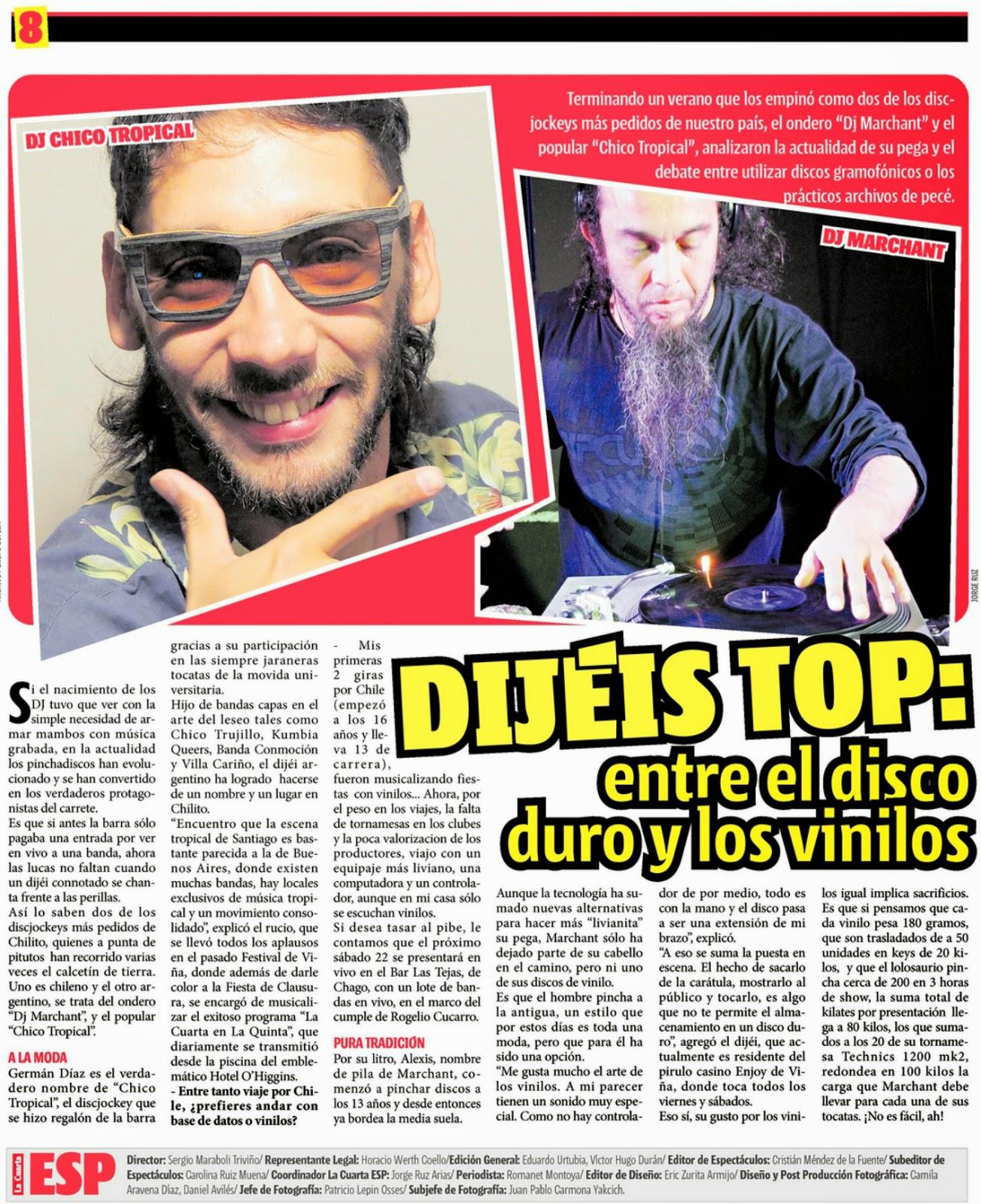 Chico Tropical // Regresó el Tumbao!: 14/3 - DIARIO LA ...