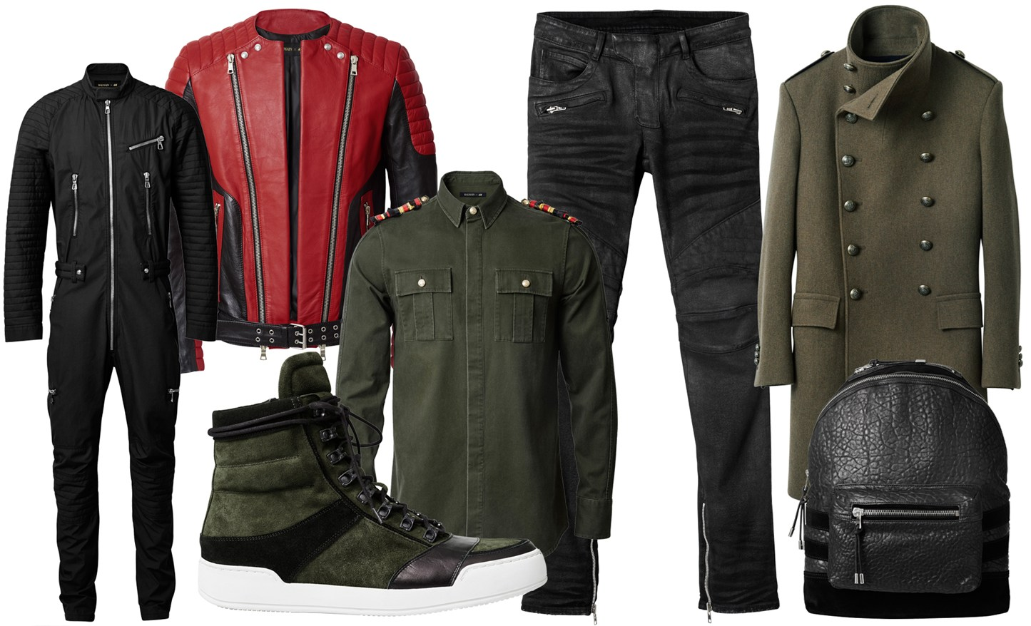 The Balmain x H&M Menswear Collection - an ode to Biker Heritage