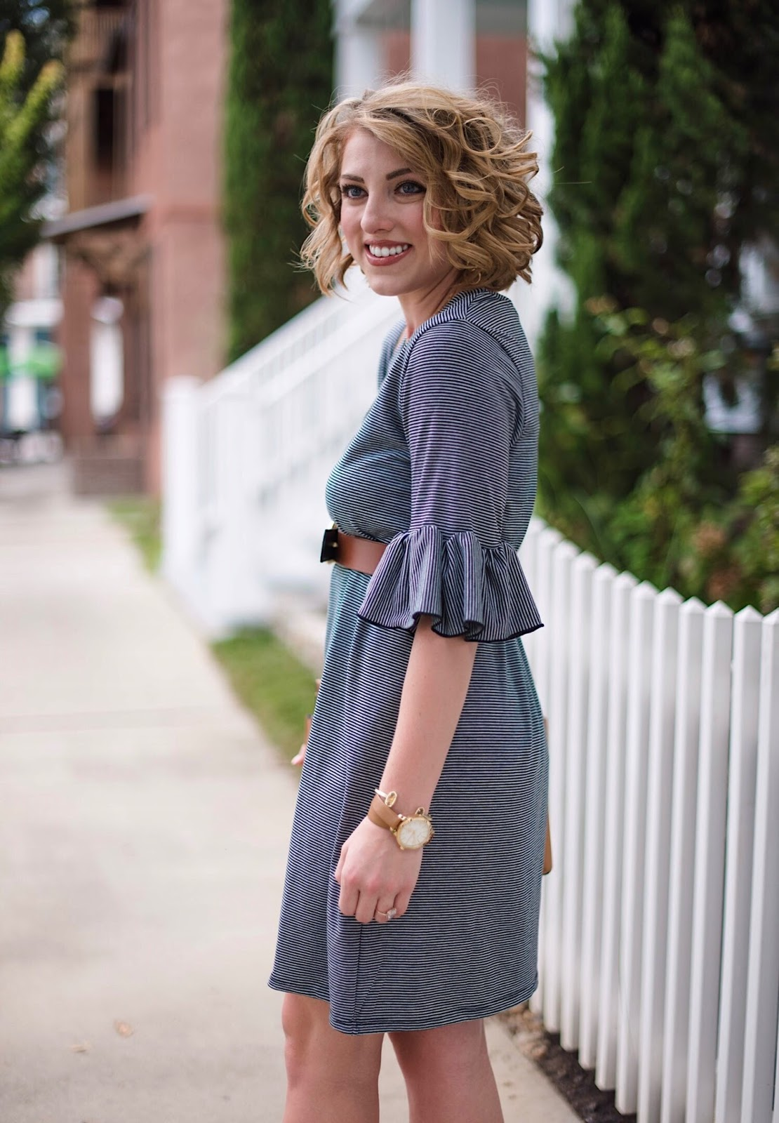 Ruffle Sleeve Dress - Click through to see more on Something Delightful Blog!