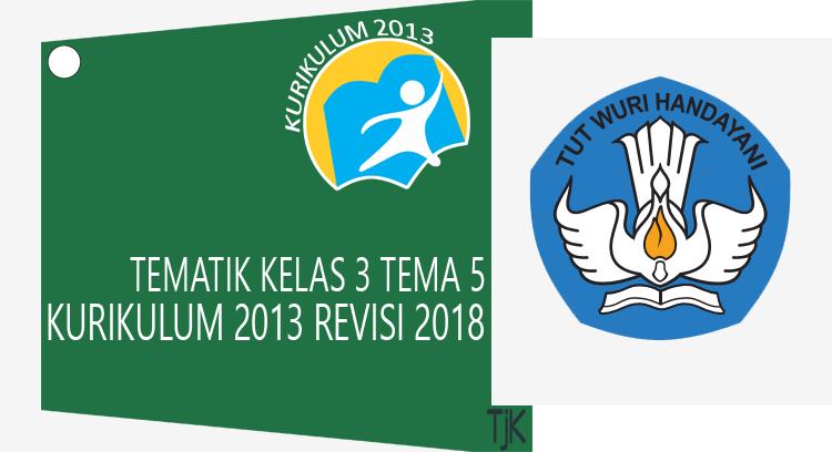 Buku Guru dan Buku Siswa Kelas 3 Tema 5 Kurikulum 2013 Revisi 2018