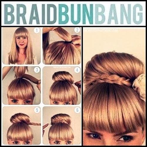 Como Hacer Un Peinado Con Flequillo Peinados Para Fiesta - Peinados-para-el-flequillo