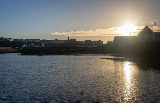 Photo of early morning sunshine over Maryport Basin yesterday (Thursday)