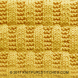 Stocking - Garter Stitch Rectangles. Only basic knitting techniques - knit and purl stitches