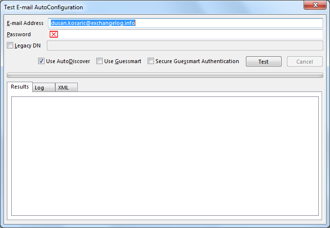 exchange autodiscover when in different domain  test e