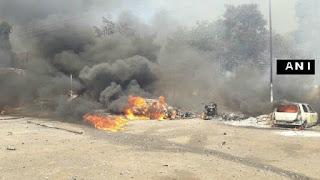 اورنگ آباد : مارکٹ میں بھیانک آتشزدگی کا واقعہ