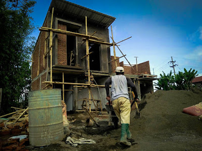 Progres pembangunan unit kavling no. 34 di Exotic Panderman Hill bulan Oktober 2017.