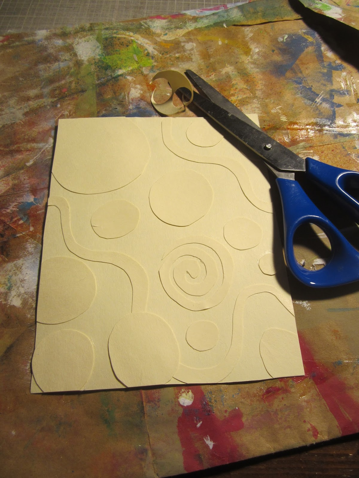 Butterfly journal cover with balsa foam stamping