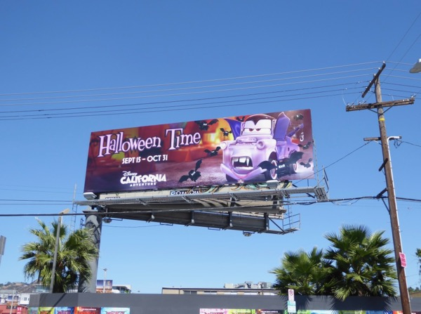 Halloween Time Disney billboard