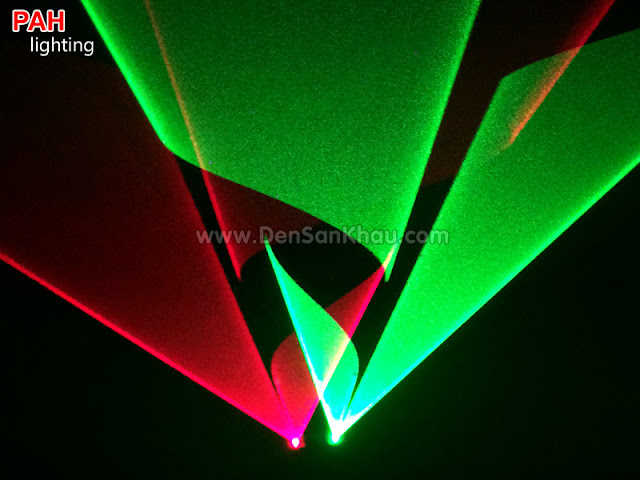 Hiệu ứng đèn tia laser Bicolor Red Green
