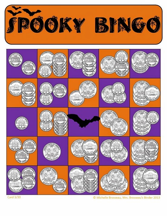 http://www.teacherspayteachers.com/Product/Money-Math-Spooky-Halloween-Adding-Coins-Bingo-Cards-30-Unique-Cards-933900