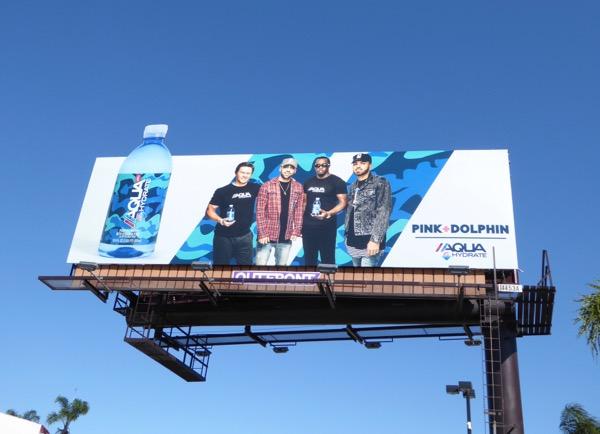 Pink Dolphin Aqua Hydrate billboard