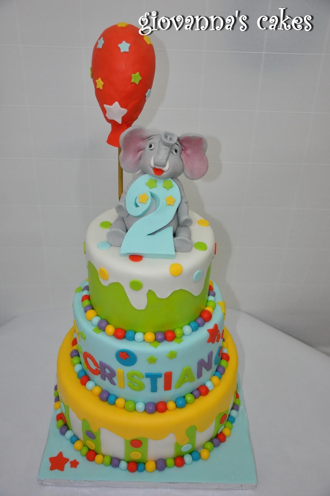 Giovanna S Cakes Cristian S Elephant Birthday Cake
