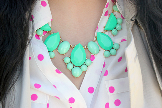 Kate Spade Statement Necklace Spring Outfit