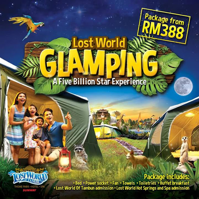 GLAMPING DI THE LOST WORLD OF TAMBUN PERAK