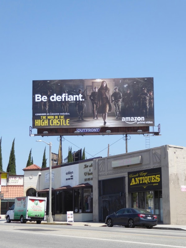 Man in High Castle Be defiant Emmy FYC billboard