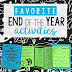 Round Up of My Favorite End of the Year Lessons & Activities