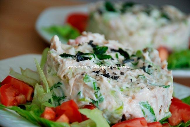 Ensalada de pollo asado - Cocina de aprovechamiento