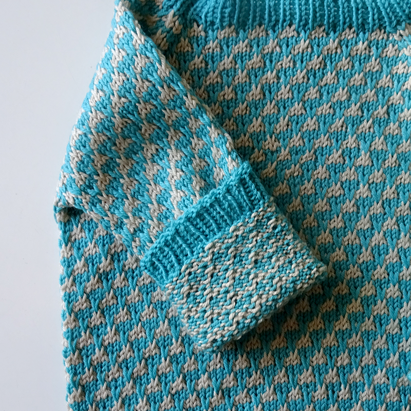 Mosaic Knitting Stitches Patterns : Birkessweater.