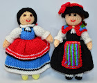 Swiss & Bulgarian Doll Knitting Pattern