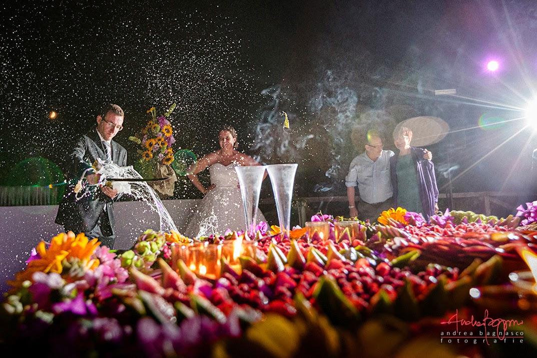 champagne matrimonio tenuta la Ginestra Negro Ricevimenti Le Manie